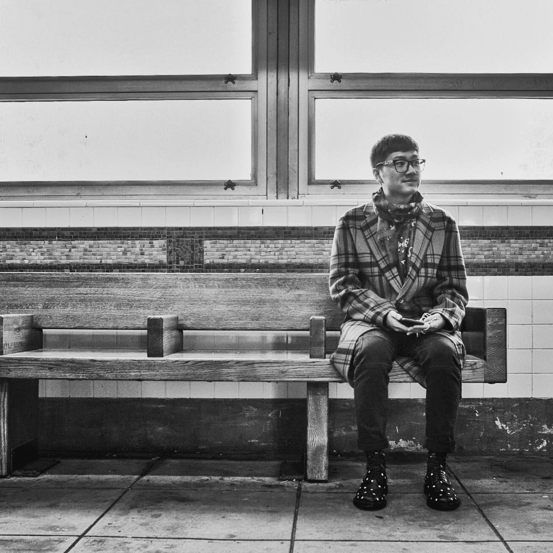 I saw matt () at Queensboro Plaza. I really liked how he paired plaid with polka dots. This is how he answered my questions How