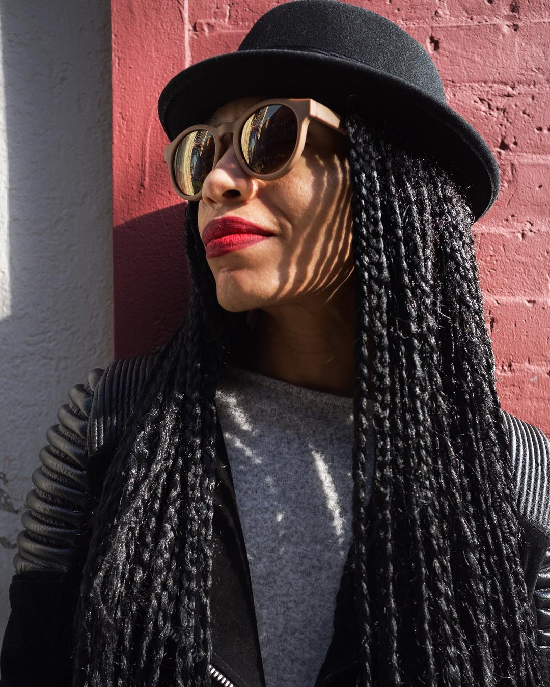 I saw Sonny () in SOHO. She had the dopest style and I loved her vibe and braids. I was a little intimidated at first
