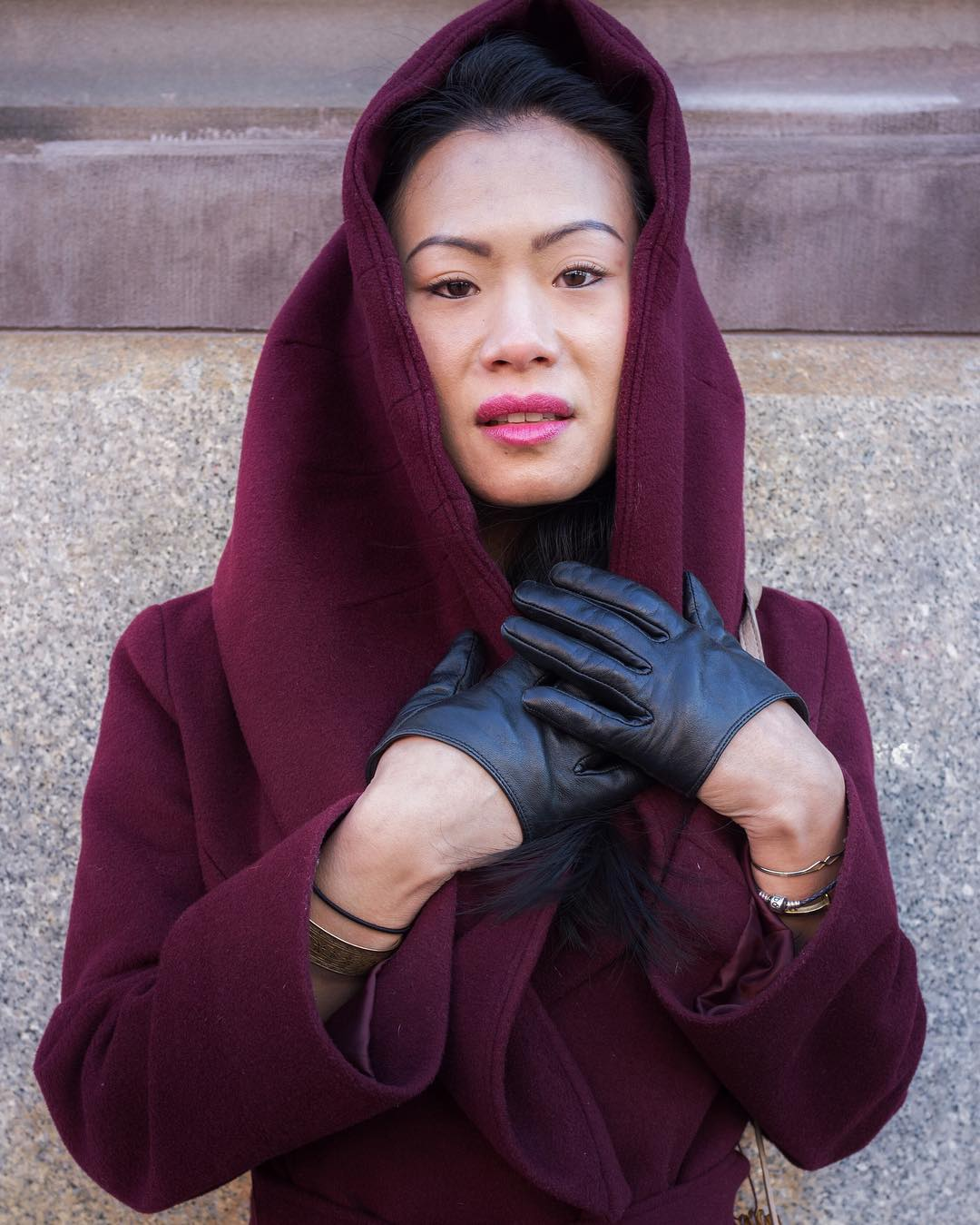 "I loved  cloak and gloves. I am so glad she let me take a picture! How is your day going: ""It is going really"