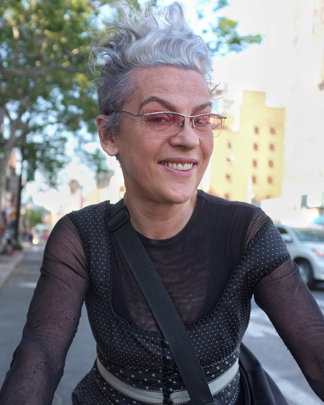 I saw Marja as she was biking down the street. She looked great! What is your name? Marja  I love your layers. Where did