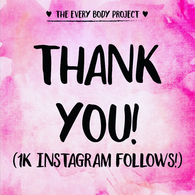 Two years ago I started The Every Body Project to help myself and other people who struggle with body image issues and self love. It