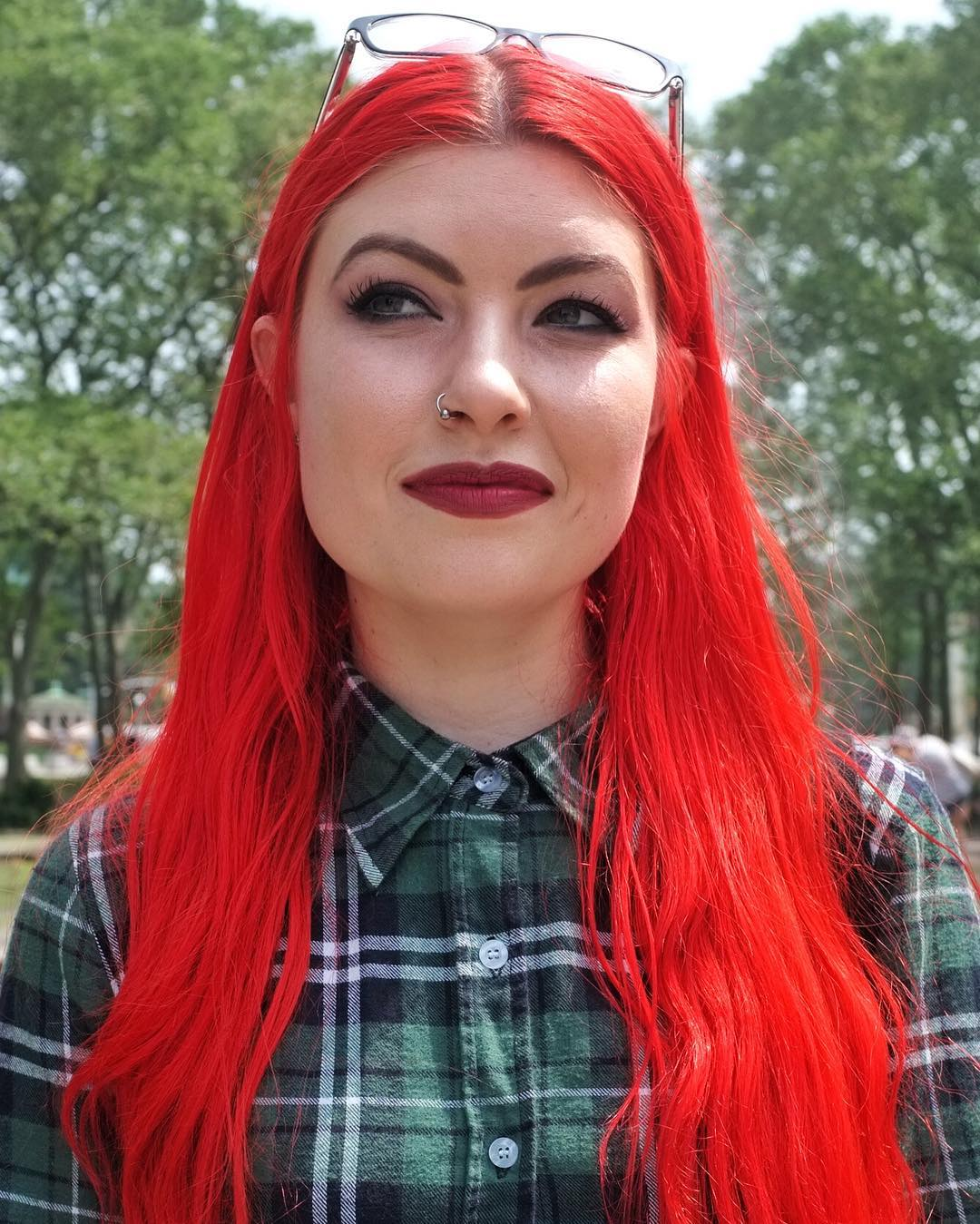 "What is your name: ""Aimee"" I love your hair! Is there a story behind the color: ""I loved the little mermaid growing up. So I've"